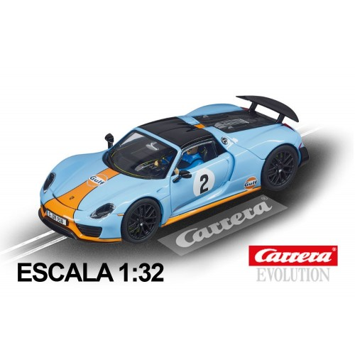 Coche Carrera Evolution Porsche 918 Spyder Gulf Racing nº2
