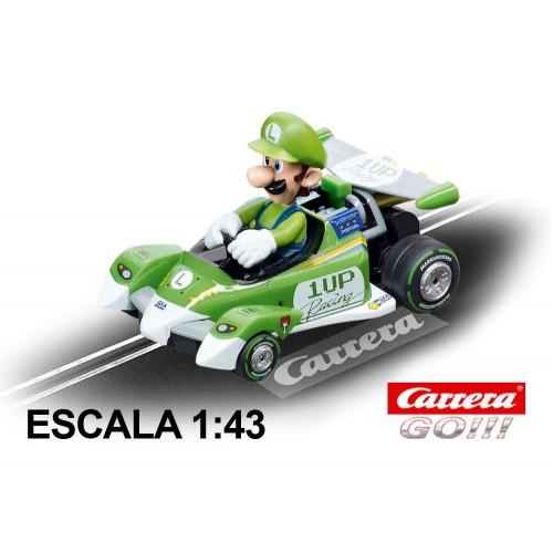 Coche Carrera Go Nintendo Mario Kart Especial Luigi