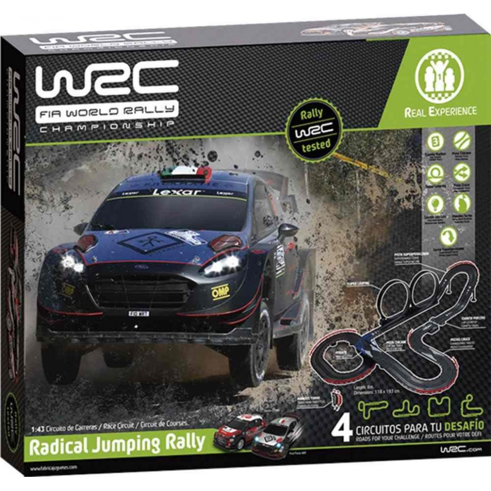 Circuito de slot 1:43 WRC Radical Jumping Rally