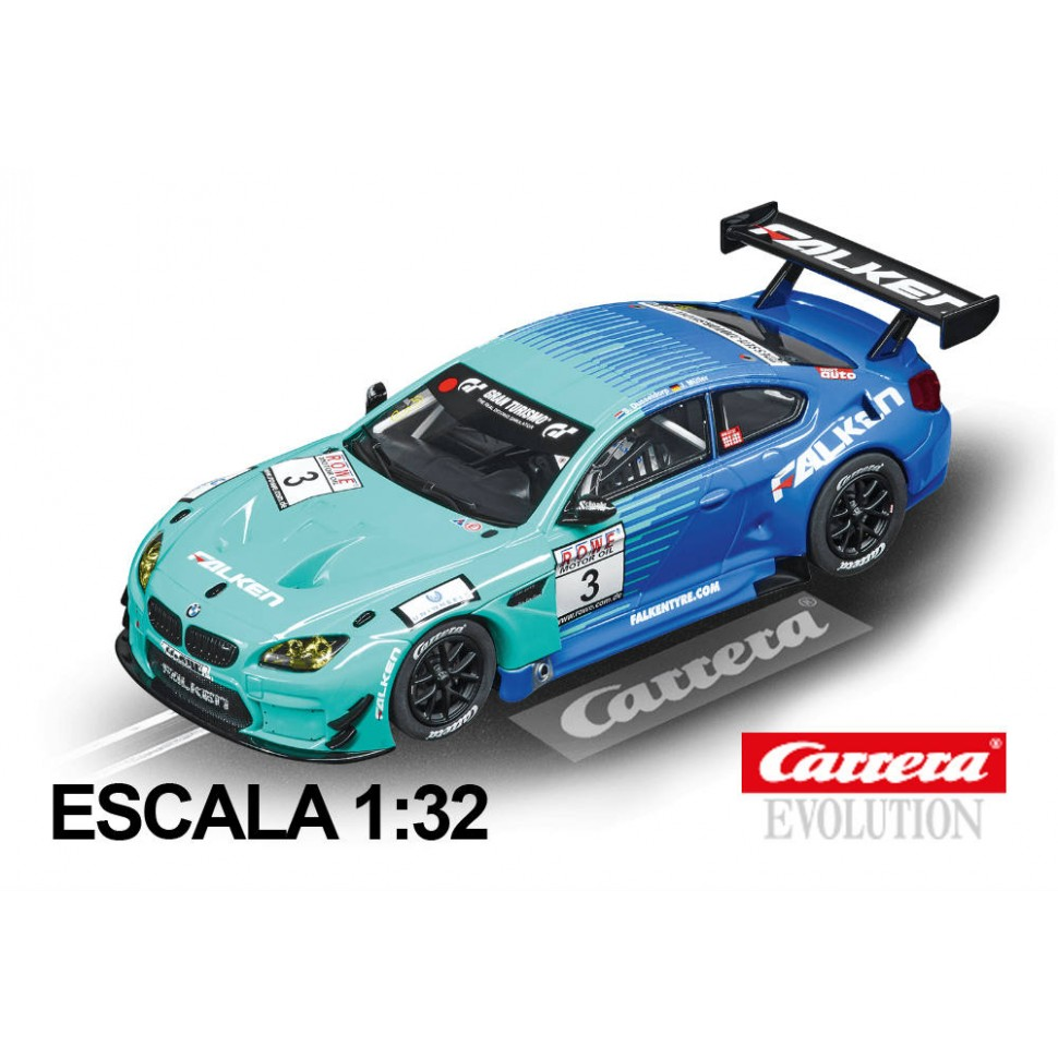 Coche Carrera Evolution BMW M6 GT3 Team Falken nº3