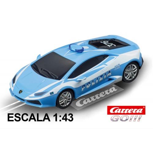 Coche Carrera Go Lamborghini Huracan LP610-4 Policia Italia