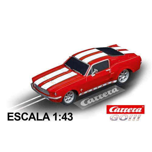 Carro Carrera Go Ford Mustang 67 Race Red