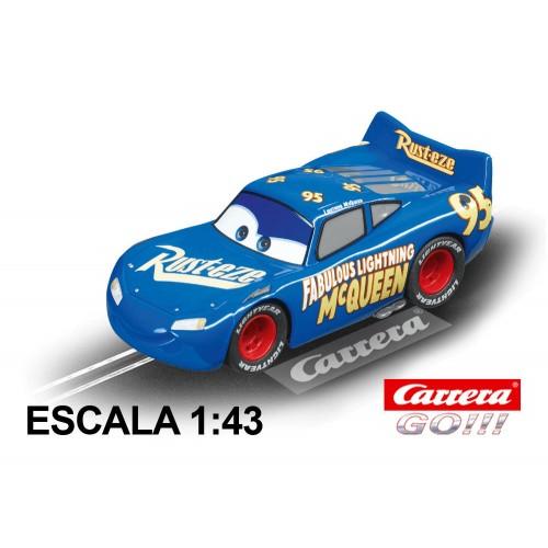 Coche Carrera Go Disney Cars 3 Fabulous Rayo McQueen
