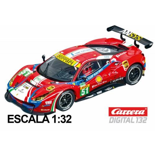Coche Carrera Digital 132 Ferrari 488 GTE Af Corse nº 51
