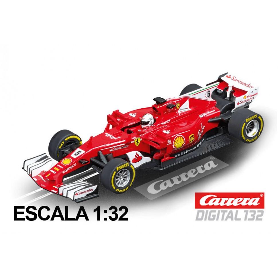 Coche Carrera Digital 132 Ferrari SF70H Vettel nº 5