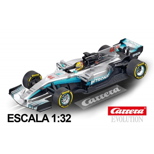 Coche Carrera Evolution Mercedes F1 W08 EQ Power Hamiton nº 44