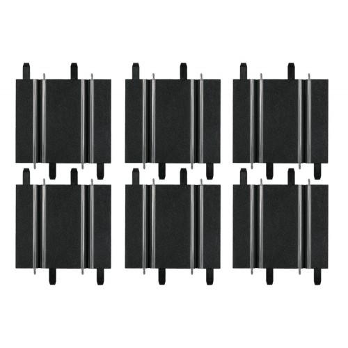 Pacote de retas curtas de 10 cm (3 unidades) - 11,4 cm (3 unidades) Carrera Go