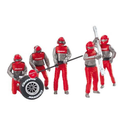 Figuras de decoração mecânica vermelha 5ud Carrera 132-124