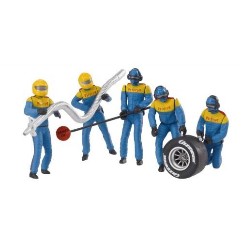 Figuras de decoração mecânica azul amarelo 5ud Carrera 132-124