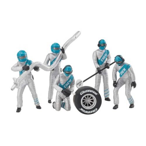Figuras de decoração mecânica prateada 5ud Carrera 132-124