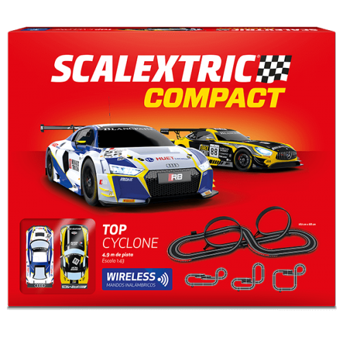 Circuito de Scalextric Compact Wireless Top Cyclone