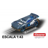 Coche Carrera Go Disney Cars Jackson Storm Mud Racers