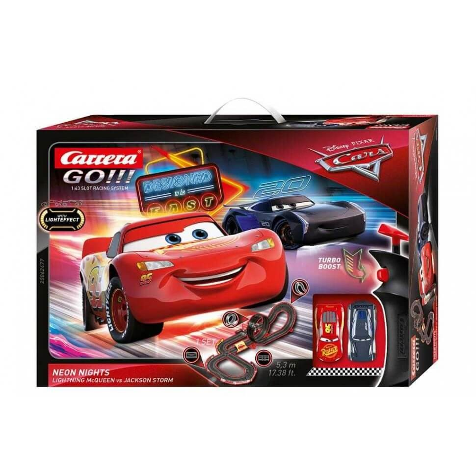 Circuito Carrera Go Disney Cars Neon Nights