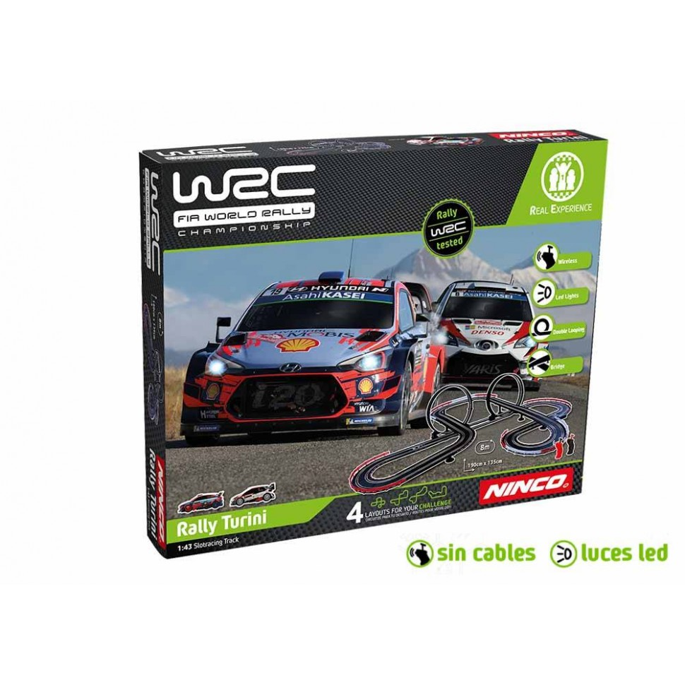 Circuito de slot 1:43 Ninco WRC Rally Turini Wireless