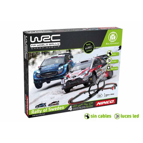 Circuito de slot 1:43 Ninco WRC Rally Suecia Wireless