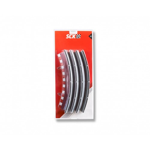 Curved Fence Edge Standard Universal (4ud) Scalextric Universal