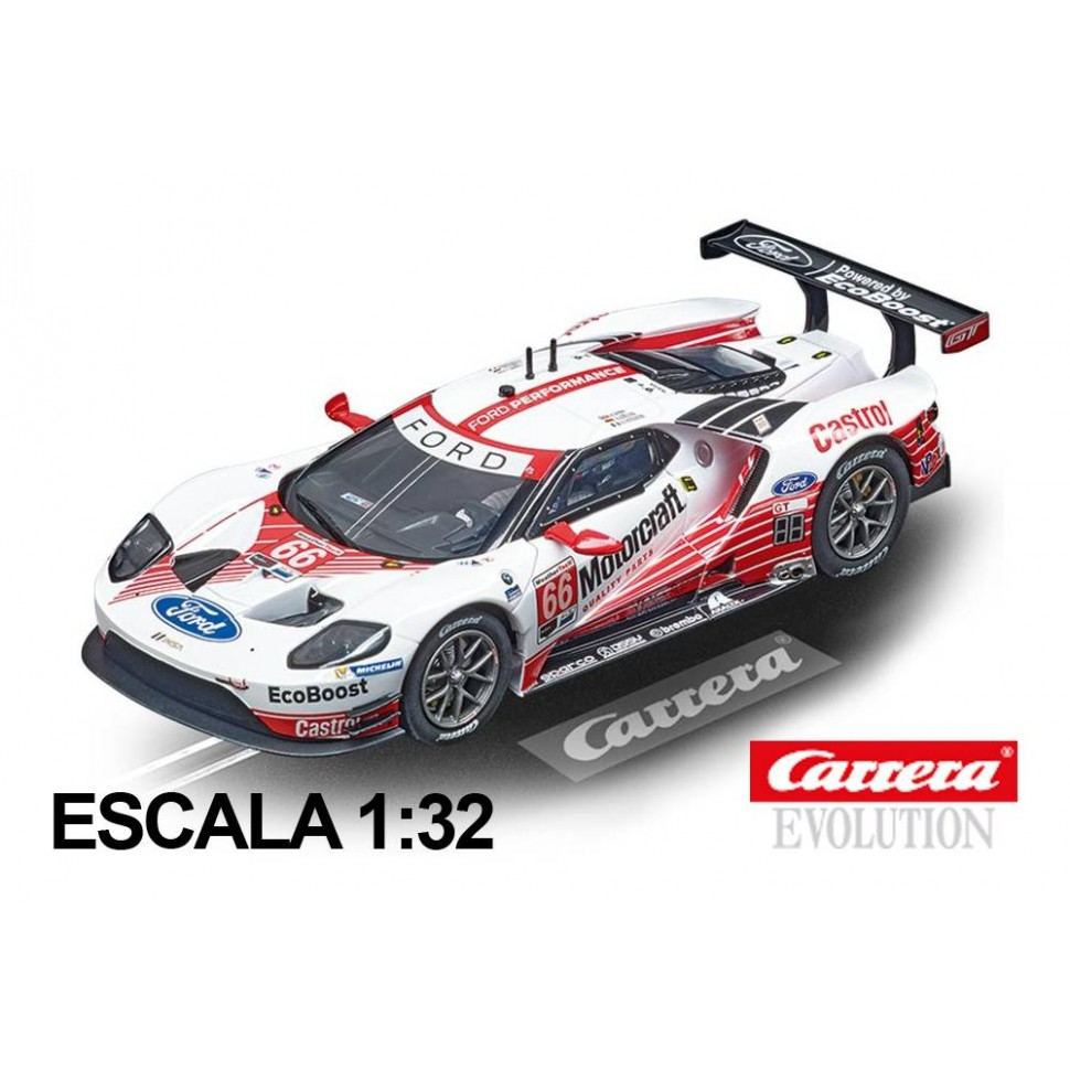 Coche Carrera Evolution Ford GT Race Car n66