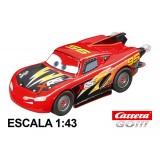 Coche Carrera Go Disney Cars Rayo McQueen Rocket Racer