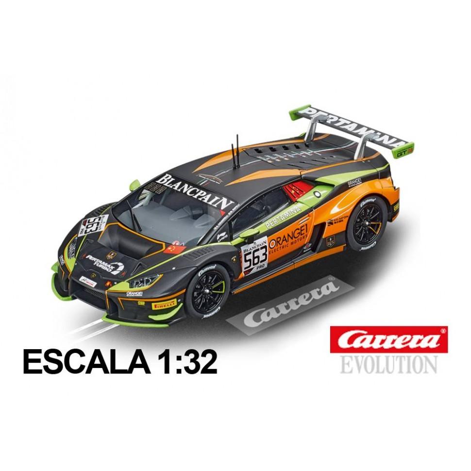 Coche Carrera Evolution Lamborghini Huracan Orange1 FFF Racing