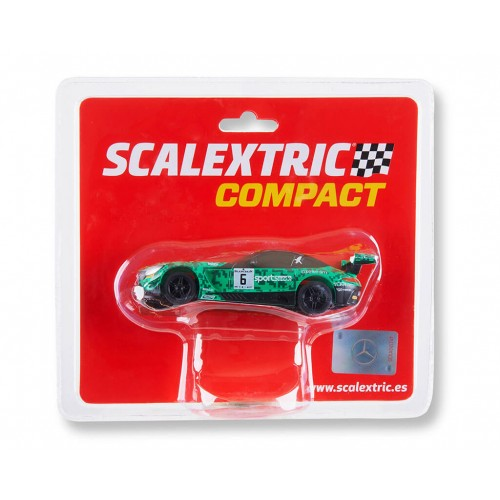 Coche de Scalextric Compact Mercedes AMG GT3 Green