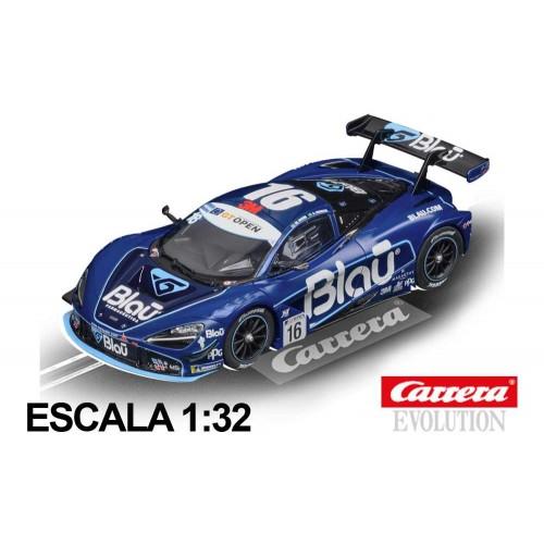 Coche Carrera Evolution McLaren 720S GT3 Blau