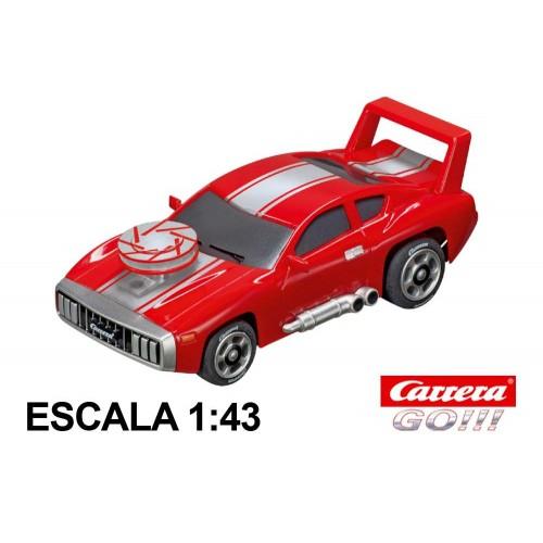 Coche Carrera Go Muscle Car 1 Rojo con luz