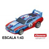Coche Carrera Go Muscle Car 1 Azul con luz