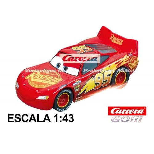 Coche Carrera Go Disney Cars Rayo McQueen Neon Nights con luz
