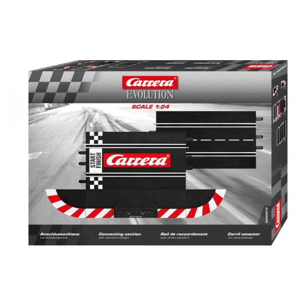 Pista de conexion con recta estándar compatible con 26710 y 20709 Carrera Evolution