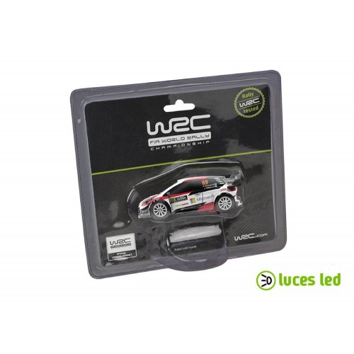 1:43 slot car Ninco WRC Toyota Yaris Rovanpera com luzes