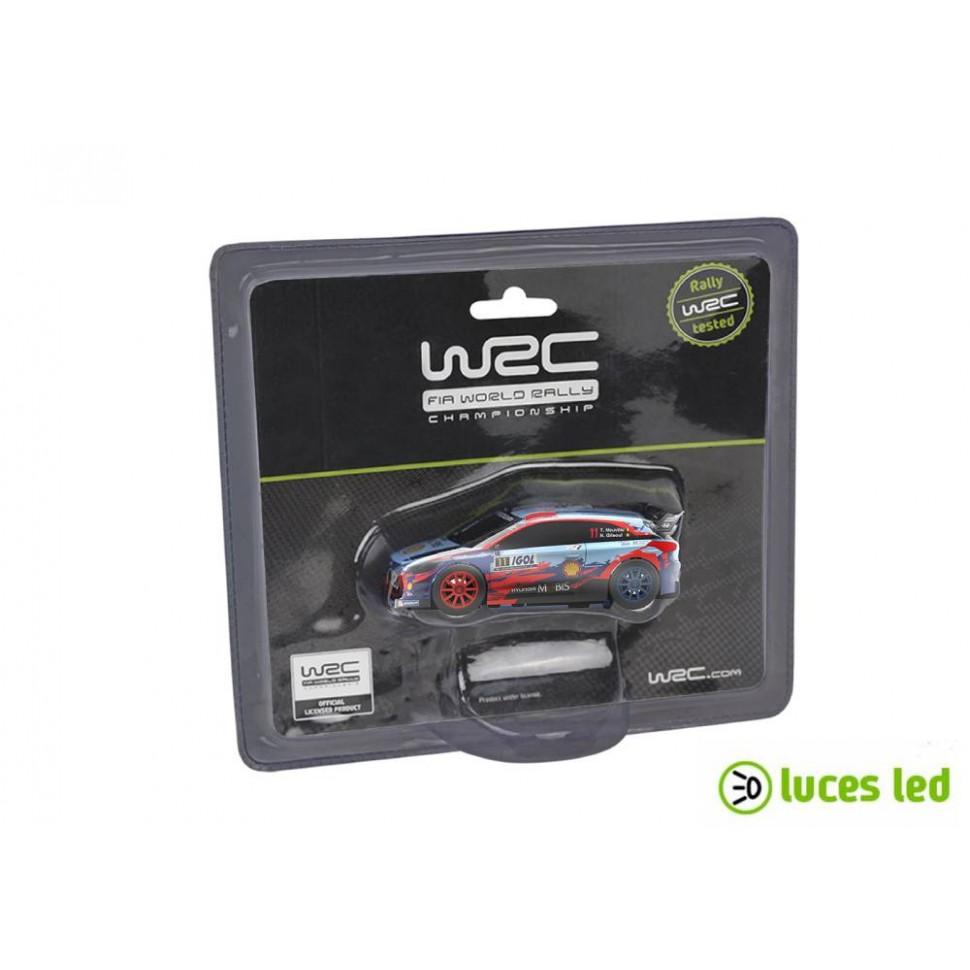 Coche de slot 1:43 Ninco Hyundai I20 WRC Neuville con luces