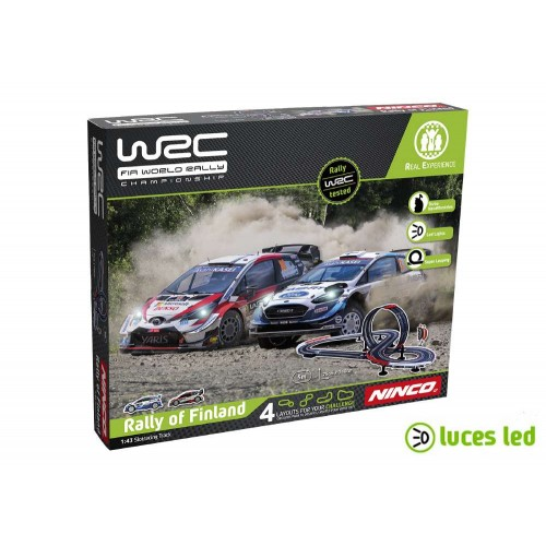 1:43 slot circuit Ninco WRC Rally Finlândia