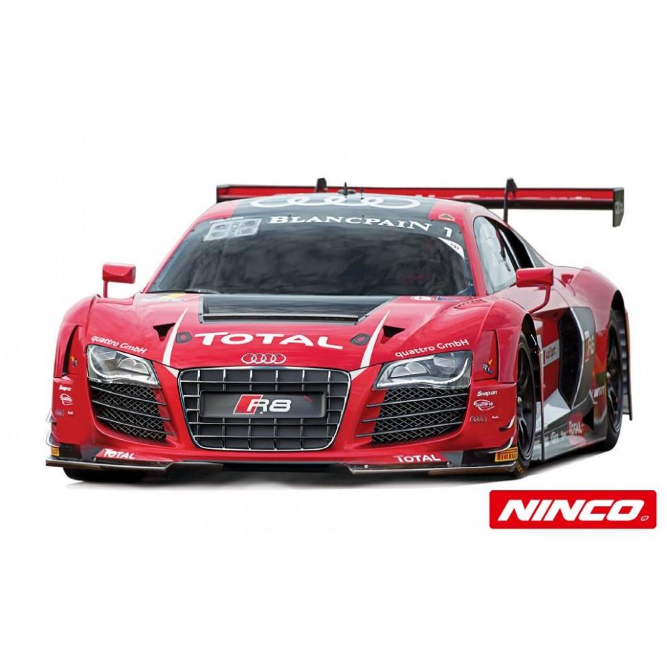 Coche de Scalextric Ninco Analogico Audi R8 Rojo Blancpain n1