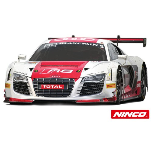 Coche de Slot Ninco Analogico Audi R8 Blanco Blancpain n5