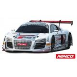 Coche de Scalextric Ninco Analogico Audi R8 Plata Blancpain n6