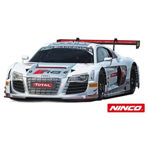 Coche de slot Ninco Analogico Audi R8 Plata Blancpain n6