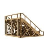 Tribuna grande de decoracion en madera kit de montaje