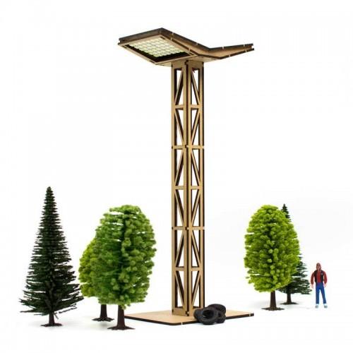 Torre de luces led Doble de Madera Circuito de Slot