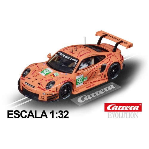 Coche Carrera Evolution Porsche 911 RSR Pink Pig Design n92