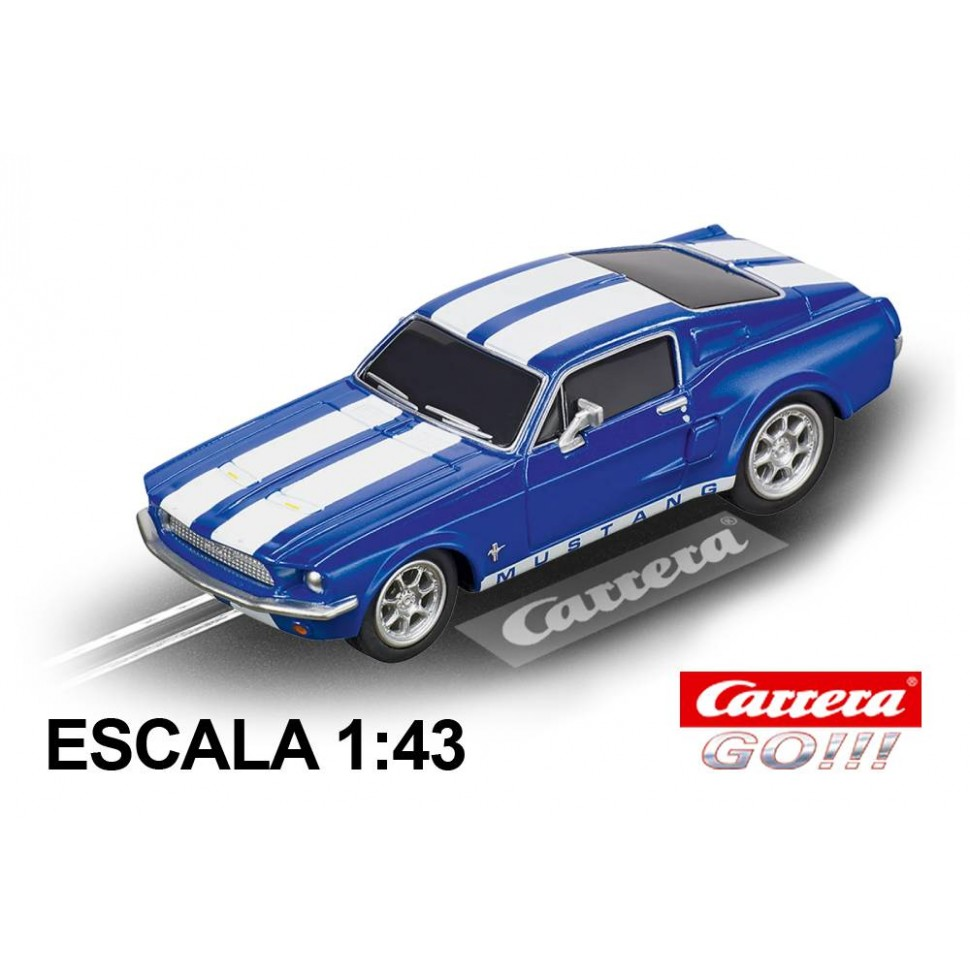 Coche Carrera Go Ford Mustang 67 Racing Blue