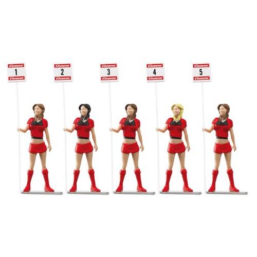 Figuras Decoracion Chicas Parrilla de Salida Gridladies 5ud Carrera 132-124