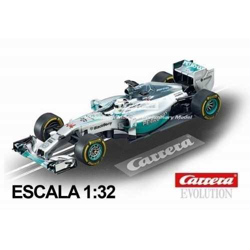 Coche Carrera Evolution Mercedes F1 W05 Hybrid Hamilton