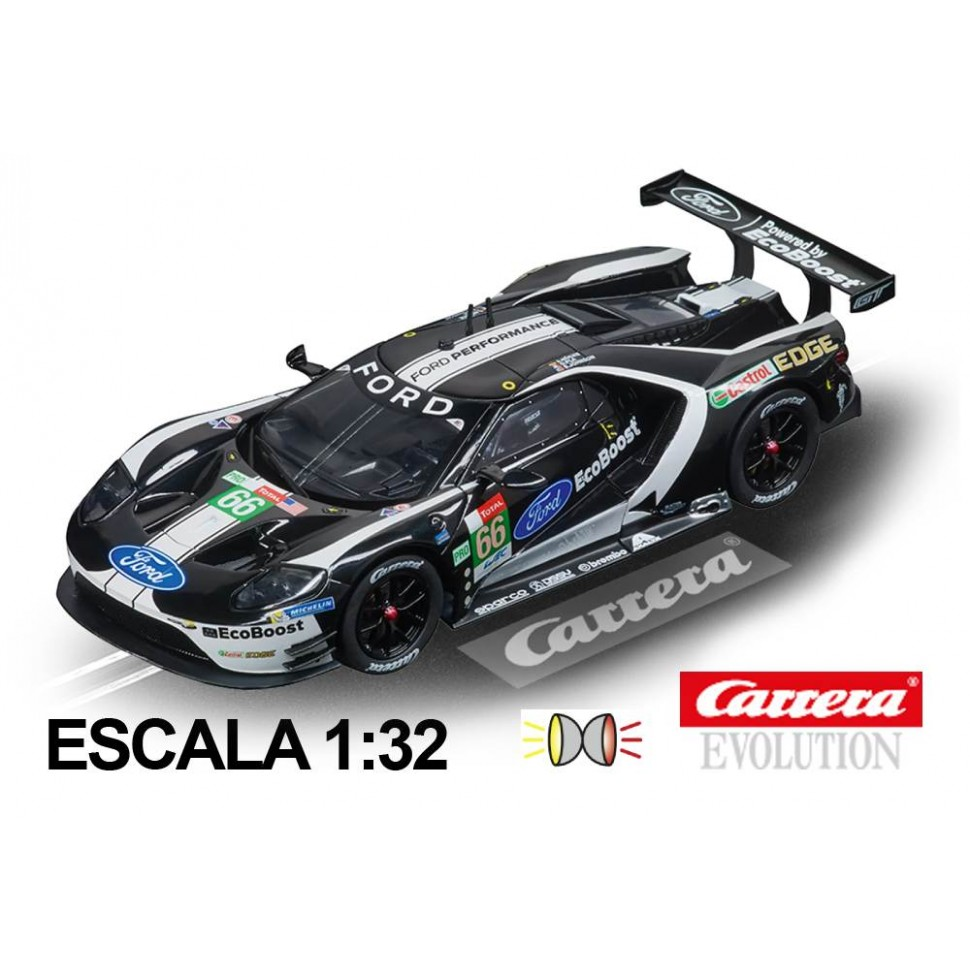 Coche Carrera Evolution Ford GT Race Car Black n66