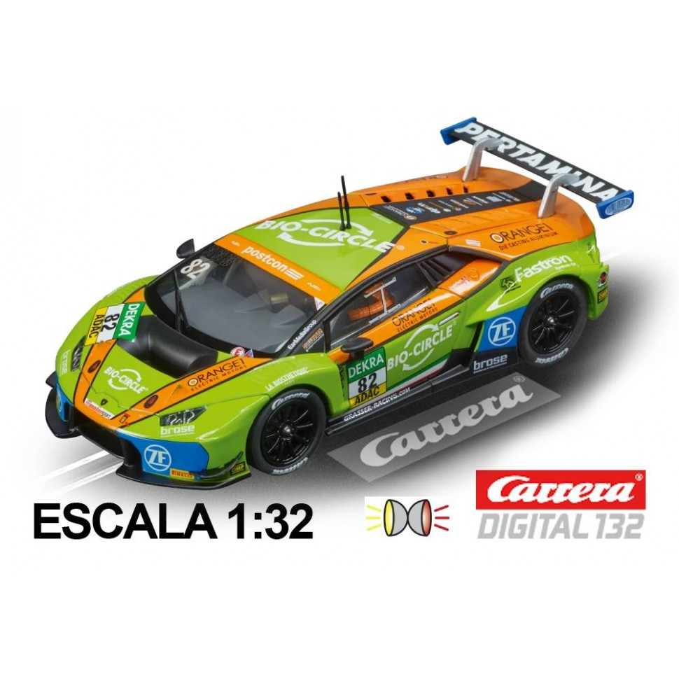 Coche Carrera Digital 132 Lamborghini Huracan GT3 Grasser Racing Team n82