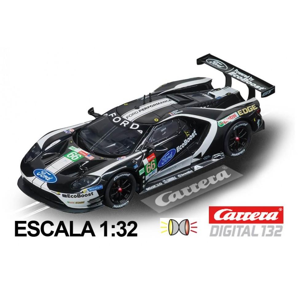 Coche Carrera Digital 132 Ford GT Race Car Black n66