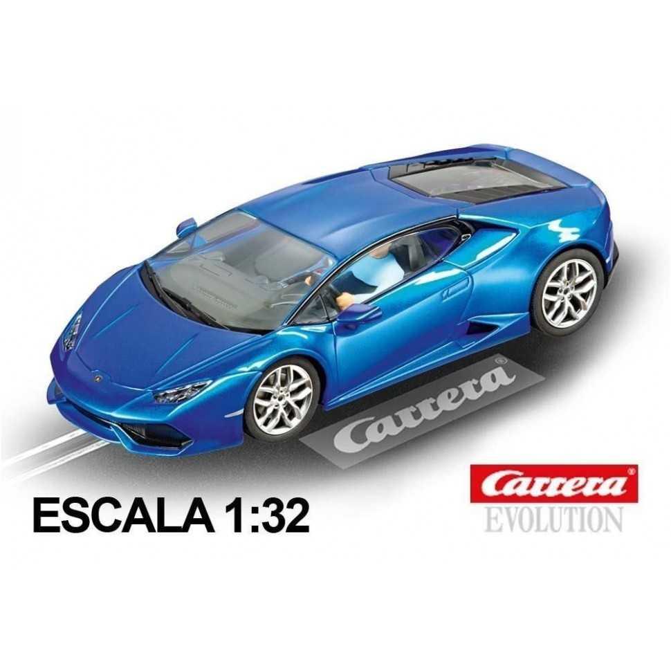 Coche Carrera Evolution Lamborghini Huracan azul met