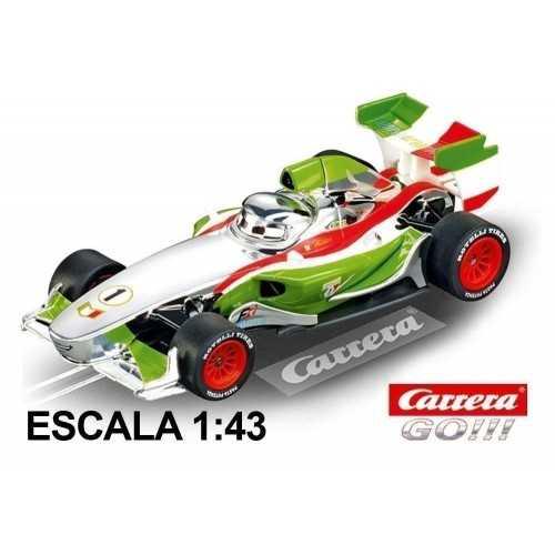 Coche Carrera Go Disney Pixar Cars Francesco Bernoulli Plata