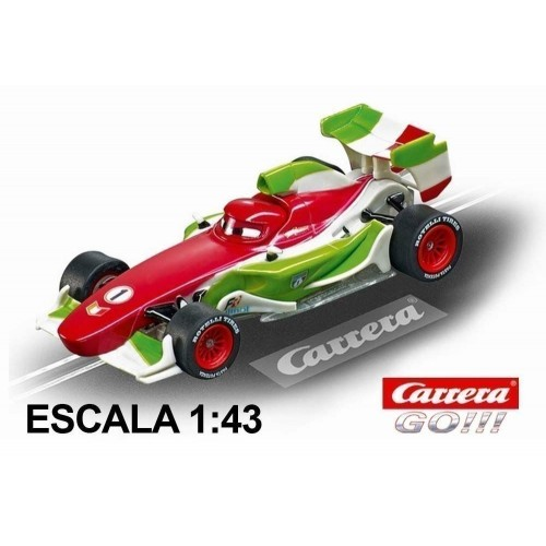 Coche Carrera Go Disney Pixar Cars Francesco Bernoulli NEON