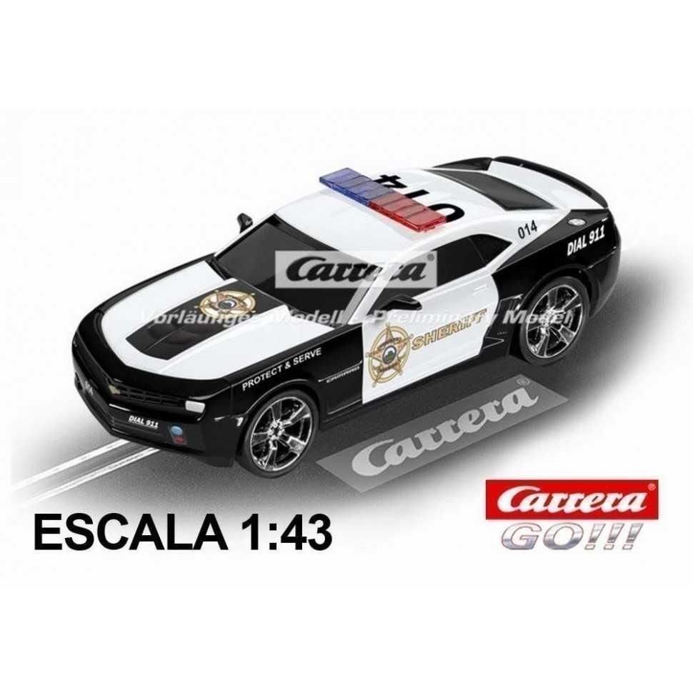 Coche Carrera Go Chevrolet Camaro Sheriff