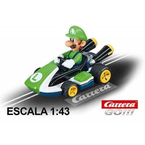 Coche Carrera Go Nintendo Mario Kart 8 Luigi